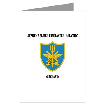 SACLANT - M01 - 02 - Supreme Allied Commander, Atlantic with Text - Greeting Cardrds (Pk of 20)
