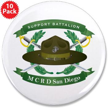 "SB - M01 - 01 - Support Battalion - 3.5"" Button (10 pack)"