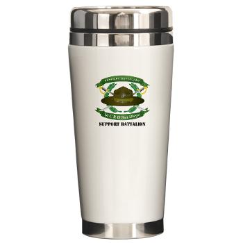 SB - M01 - 03 - Support Battalion with Text - Ceramic Travel Mug