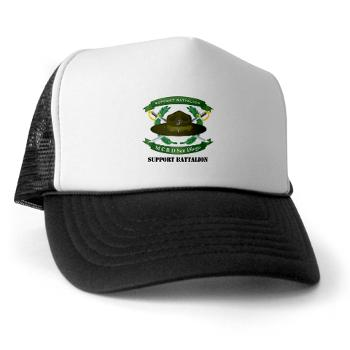 SB - A01 - 02 - Support Battalion with Text - Trucker Hat