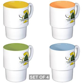 SRTB - M01 - 03 - Second Recruit Training Battalion - Stackable Mug Set (4 mugs)