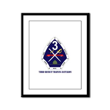 TRTB - M01 - 02 - Third Recruit Training Battalion with Text - Framed Panel Print