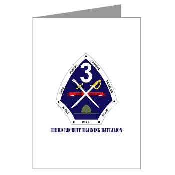 TRTB - M01 - 02 - Third Recruit Training Battalion with Text - Greeting Cards (Pk of 20)