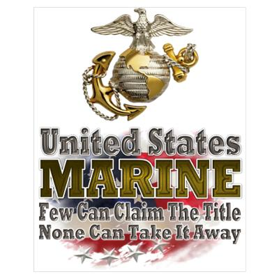 US Marine: Wall Art Poster