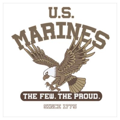 U.S. MARINES Eagle brown Poster