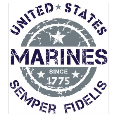 Marines 1775 dark blue Poster