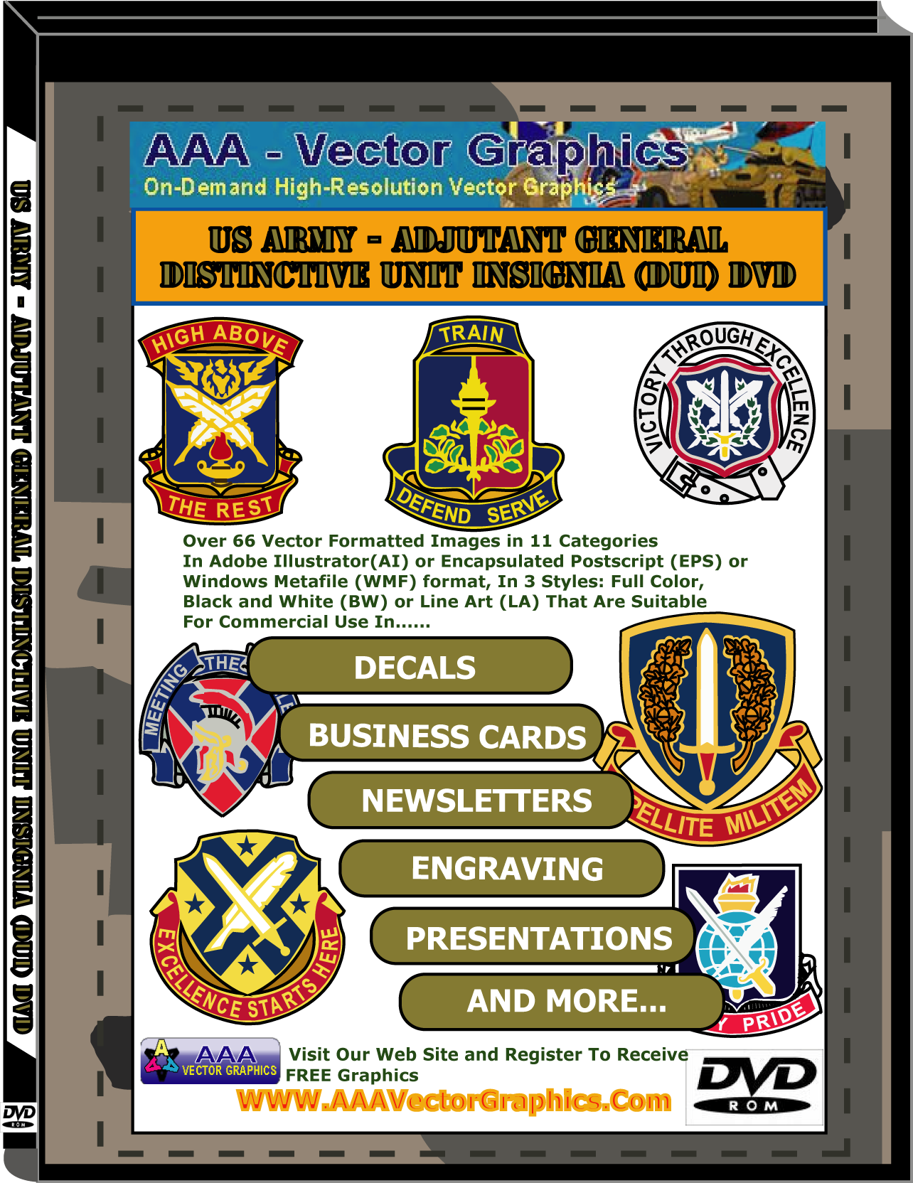 US Army - Adjutant General Insignia DUIs Downloadable Collections