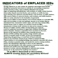 Indicators of Emplaced IEDs Training Poster