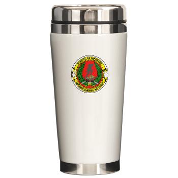 USMCSI - M01 - 03 - USMC School of Infantry - Ceramic Travel Mug
