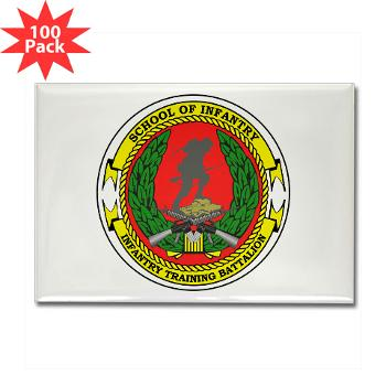 USMCSI - M01 - 01 - USMC School of Infantry - Rectangle Magnet (100 pack)