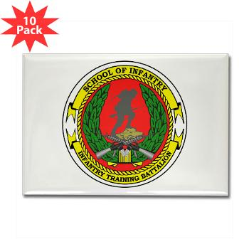 USMCSI - M01 - 01 - USMC School of Infantry - Rectangle Magnet (10 pack)