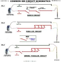 Basic IED Circuit Schematics Poster