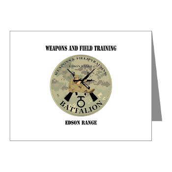 WFTB - M01 - 02 - Weapons & Field Training Battalion - Note Cards (Pk of 20)